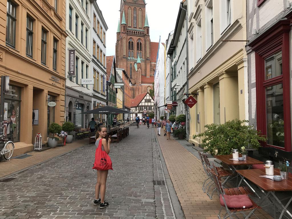 Het mooie oude centrum van Schwerin.