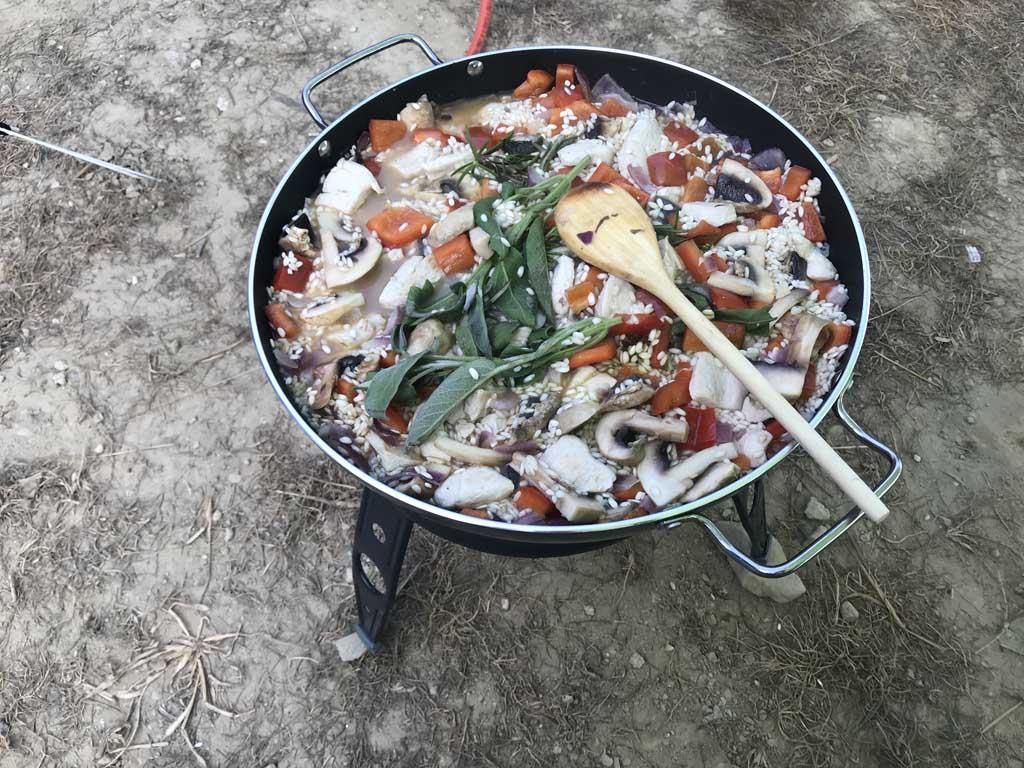 cadac paella pan obelink recept risotto