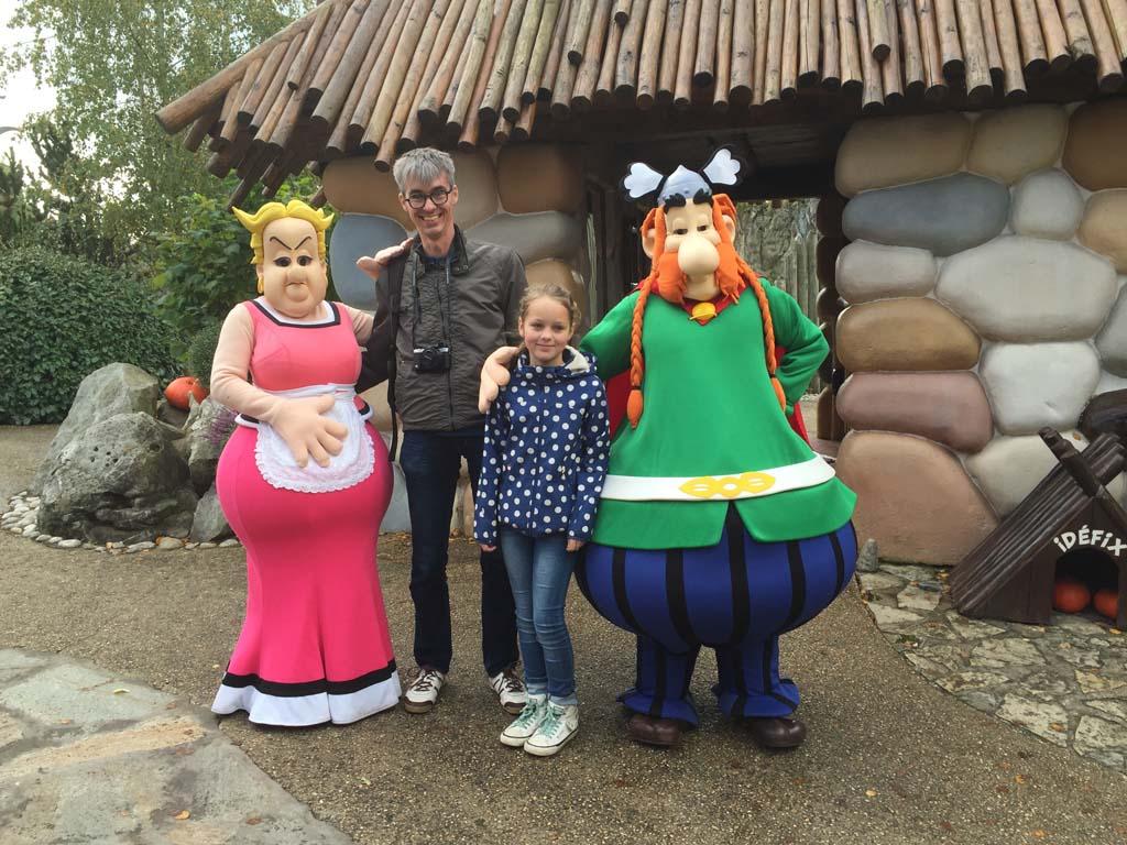 In Parc Aasterix zijn hele toffe attracties en natuurlijk kun je de bekende stripfiguren ontmoeten.