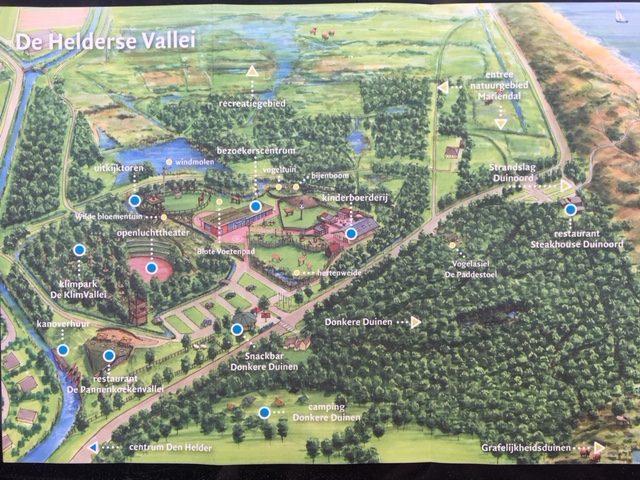 Overzichtskaart van De Helderse Vallei. Hier kun je prima een dag doorbrengen!