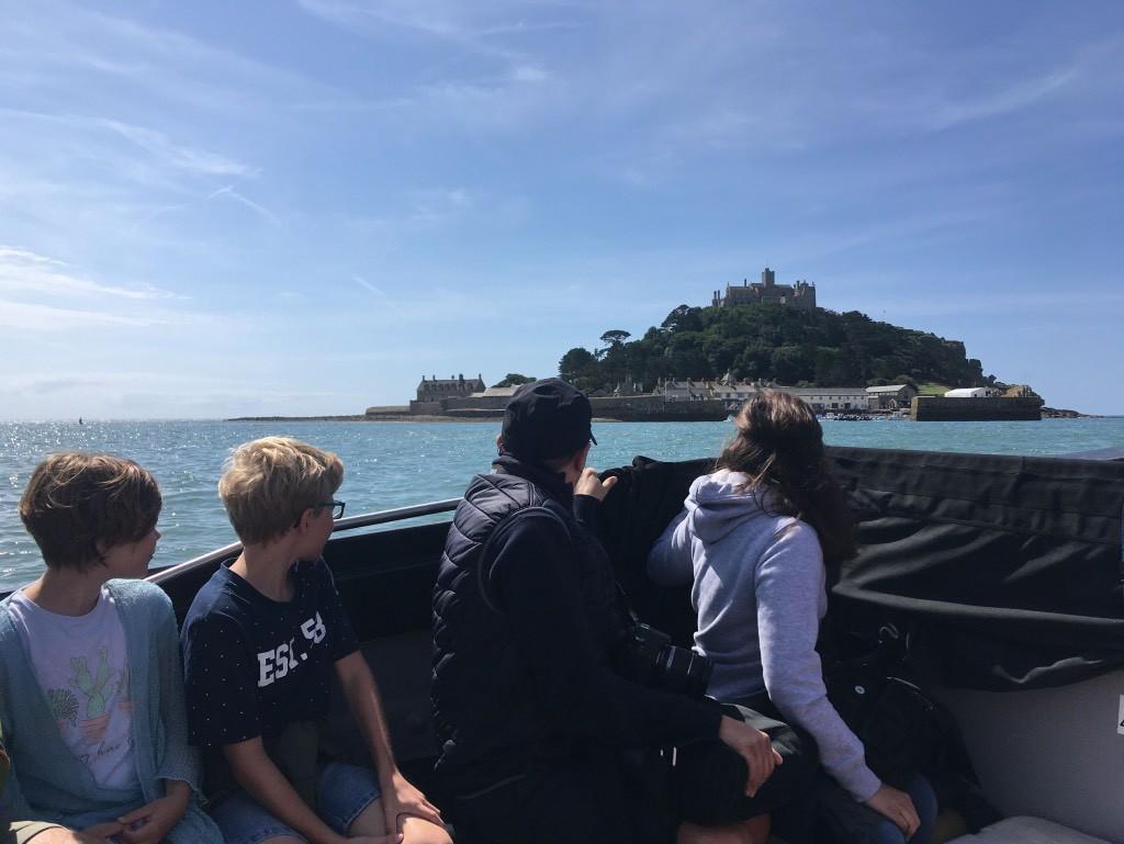 Boottocht naar St Michael's Mount met kinderen