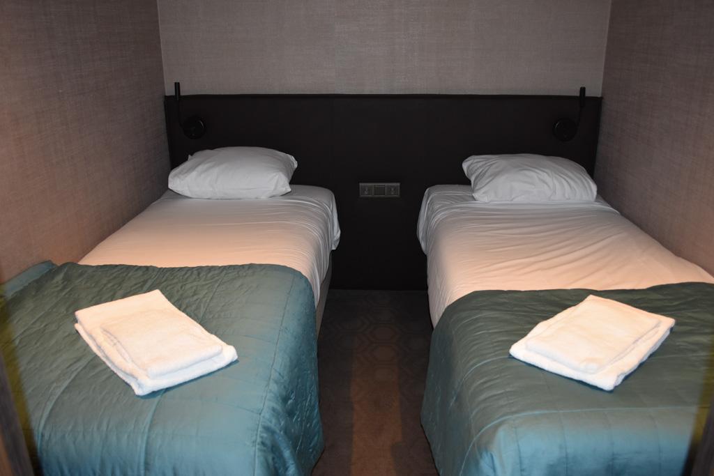 Hier slapen Elin en ik samen