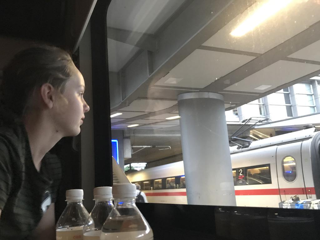 Een trein is erg comfortabel bij langere afstanden.