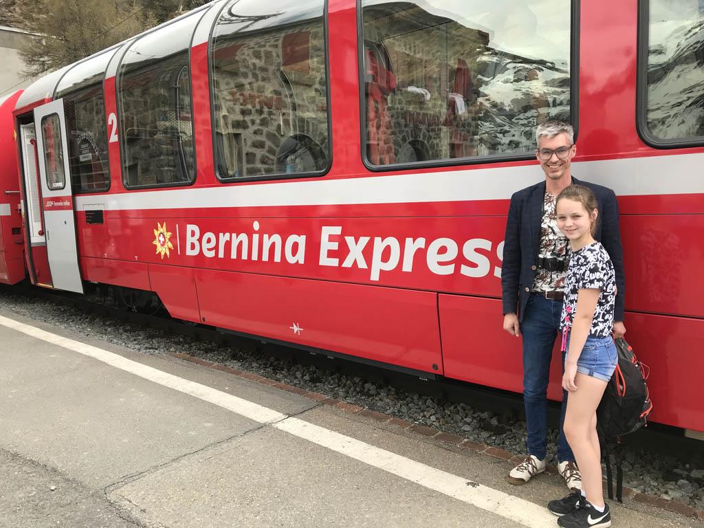 Heel gaaf: de Bernina Express nemen.