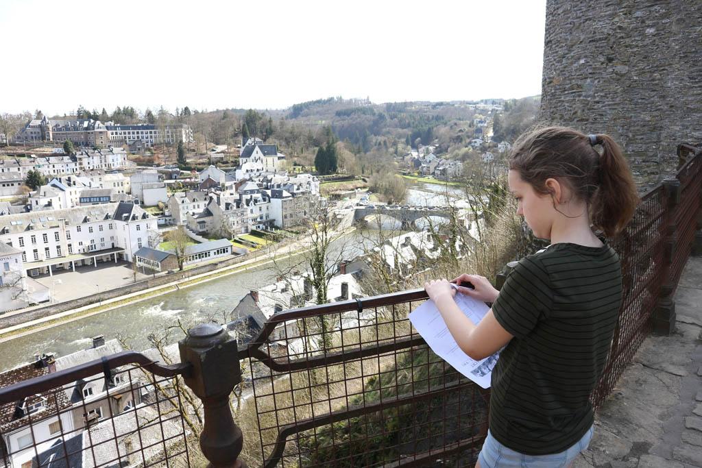 Uitzicht vanaf het kasteel van Bouillon