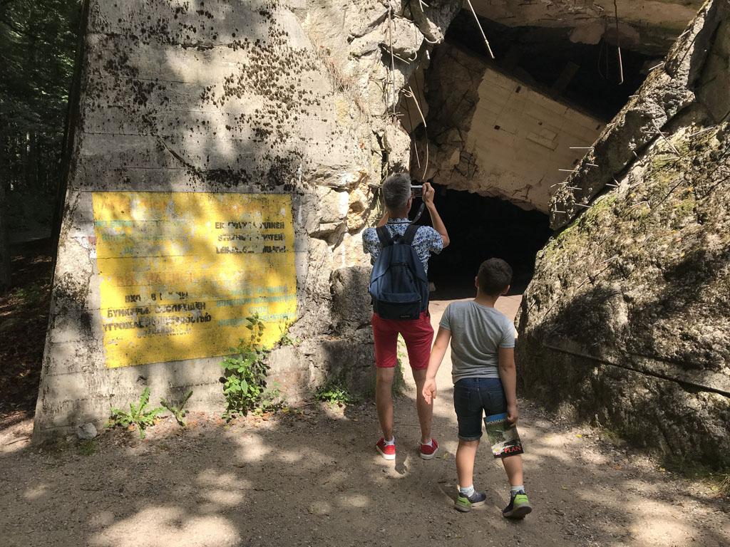We zijn onder de indruk van de ruïnes.