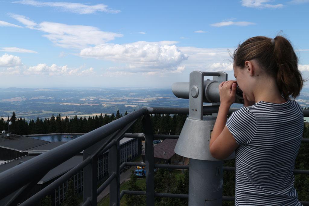 Op de uitkijktoren op de Cerna Horna.