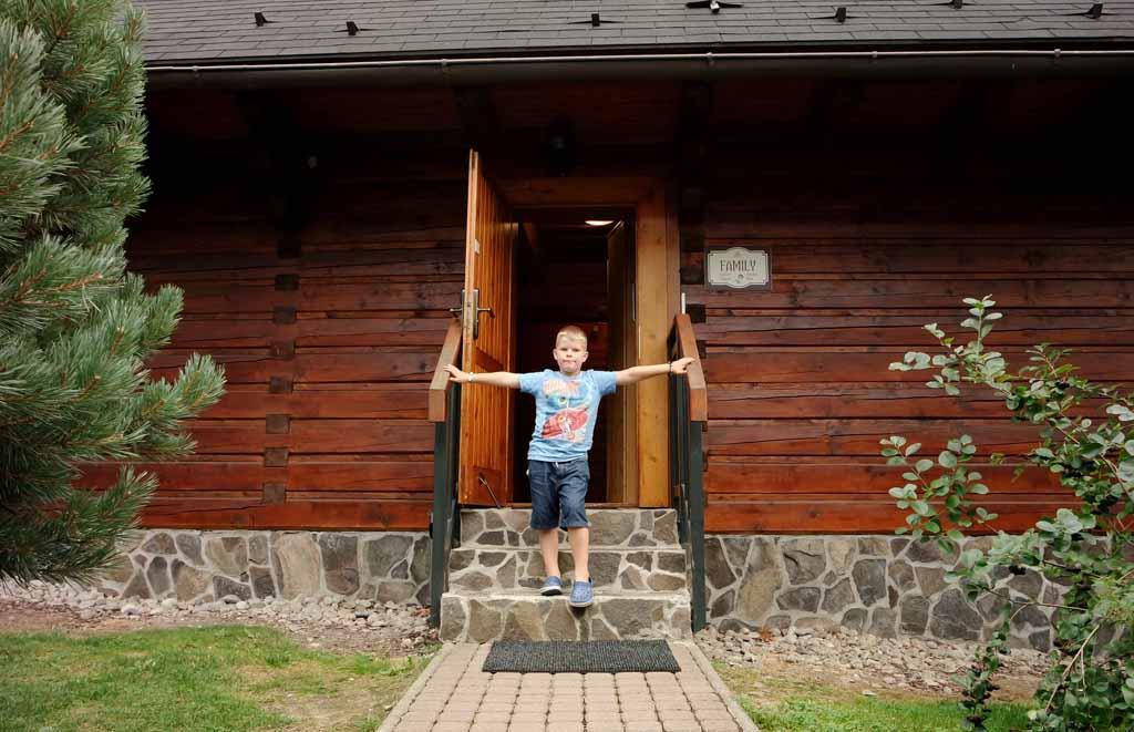 sojka-resort Kom binnen in ons Ostra huisje