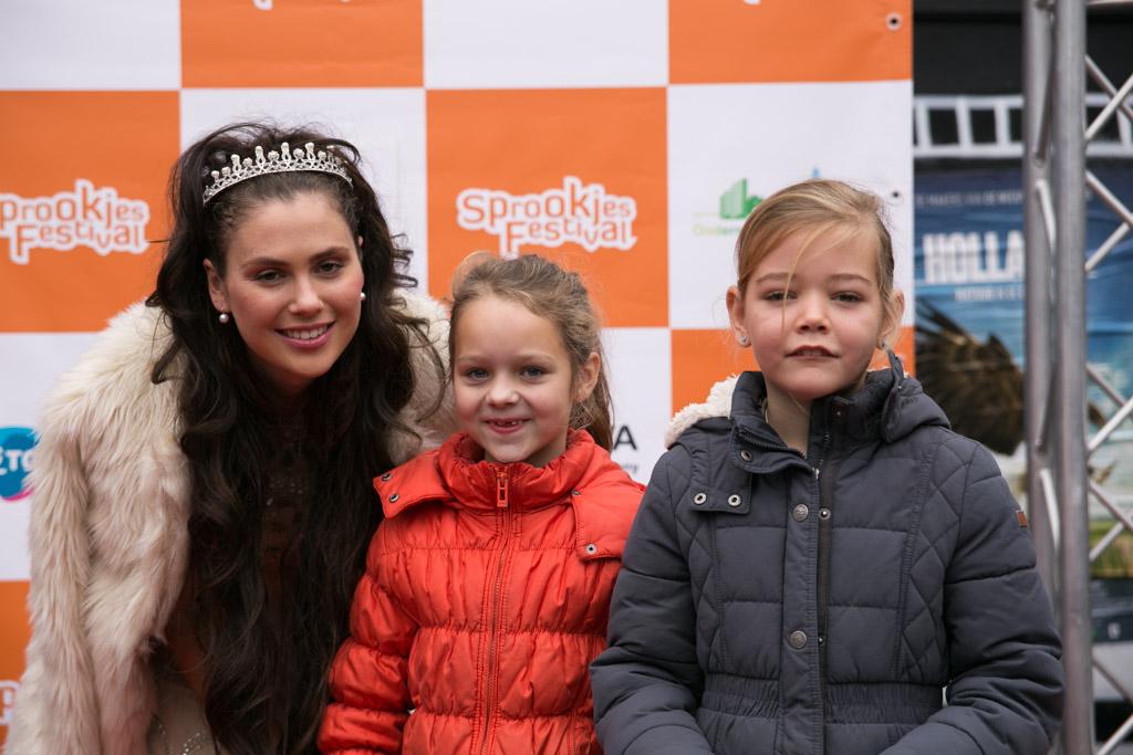 Met prinses Arnerijntje op de foto