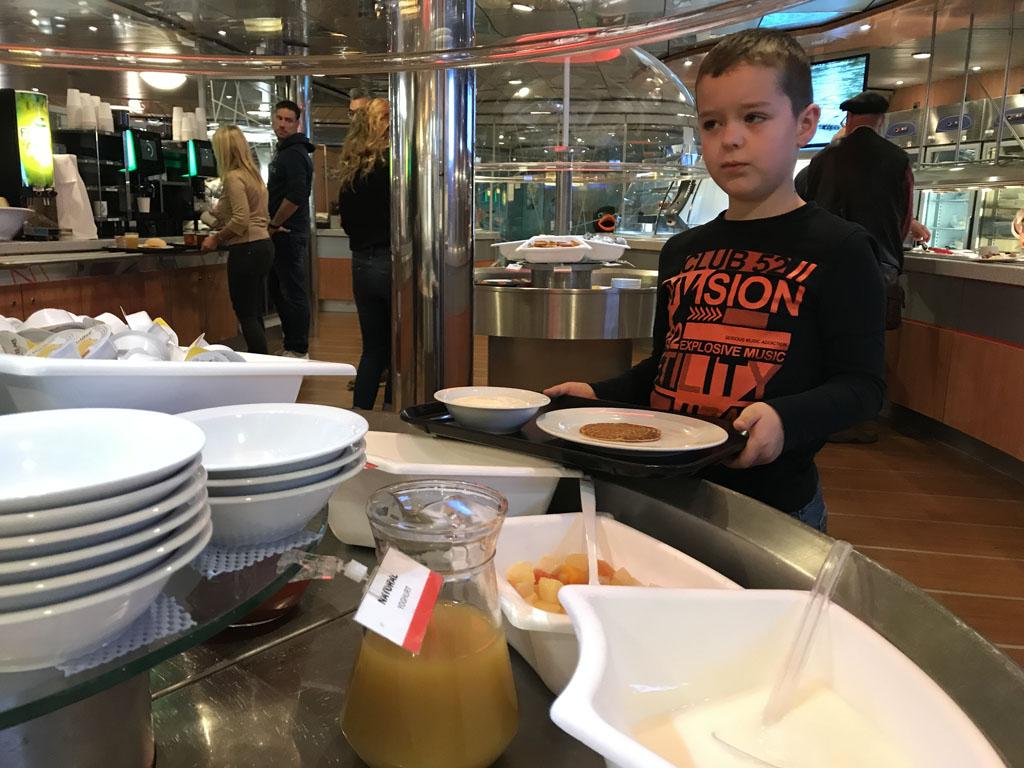 Zoveel keuze bij het ontbijtbuffet....