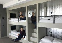 stapelbedden familiekamer van der valk hotel Leeuwarden