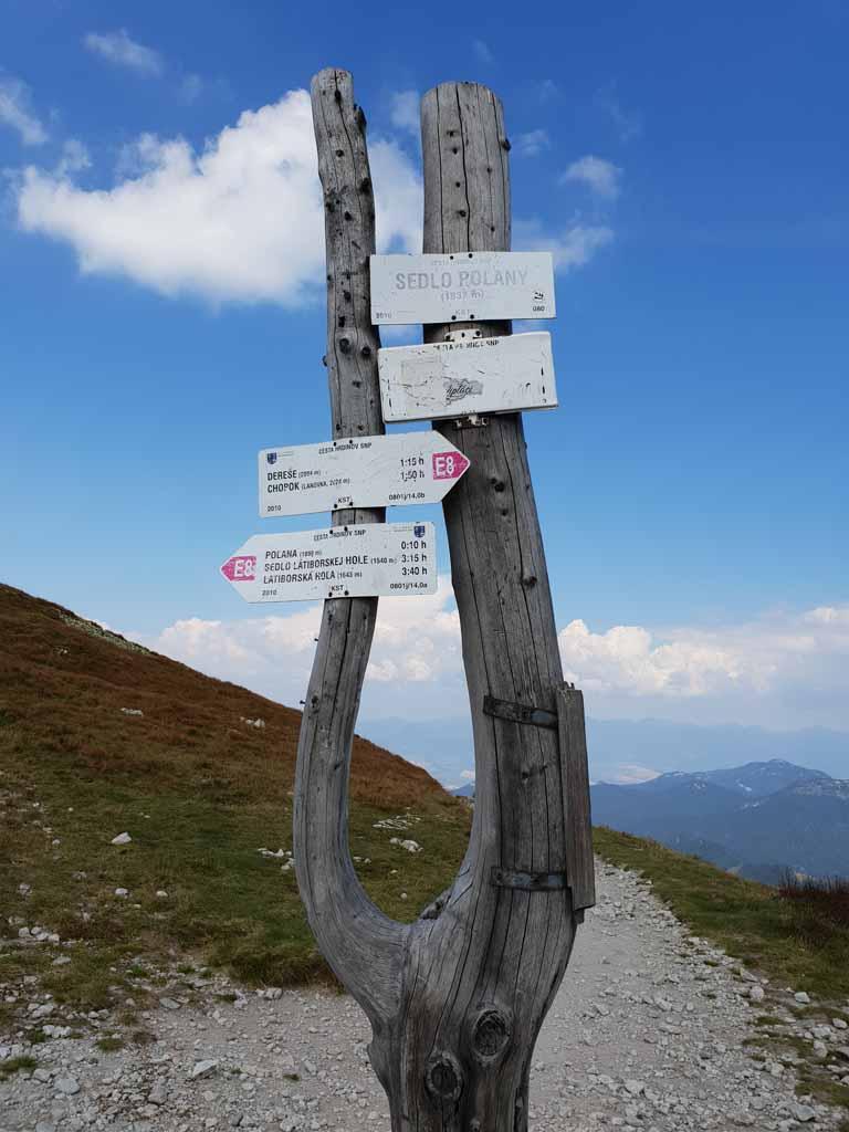 Het punt van waar we overstappen naar de andere route Wandelen-in-het-Tatra-gebergte-met-kinderen-3