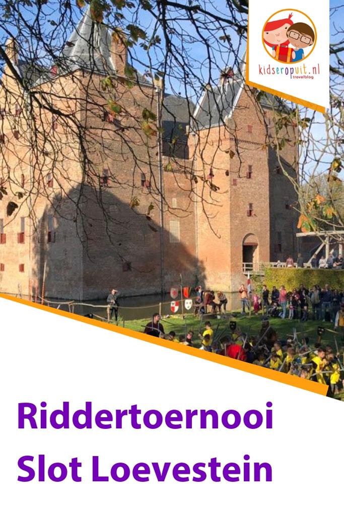 Super leuk in de herfstvakantie: het Riddertoernooi in Slot Loevestein.