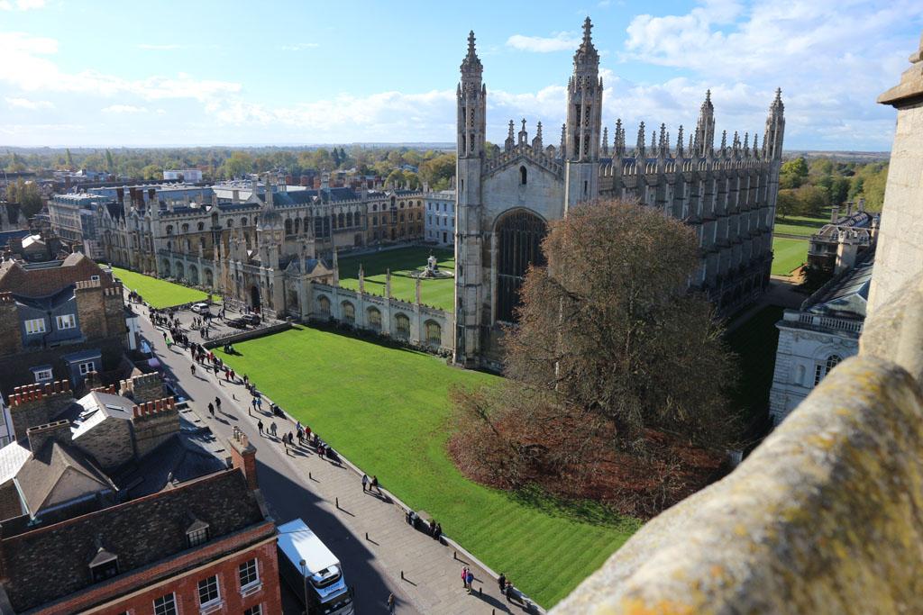 Uitzicht op King's College.