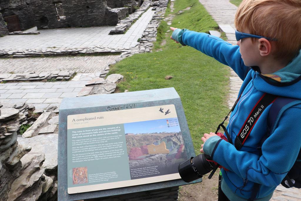Daar stond vroeger Tintagel Castle.