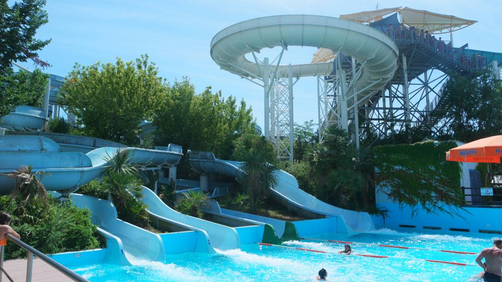 Aquapark Aquafan in Riccione is vooral leuk voor tieners.