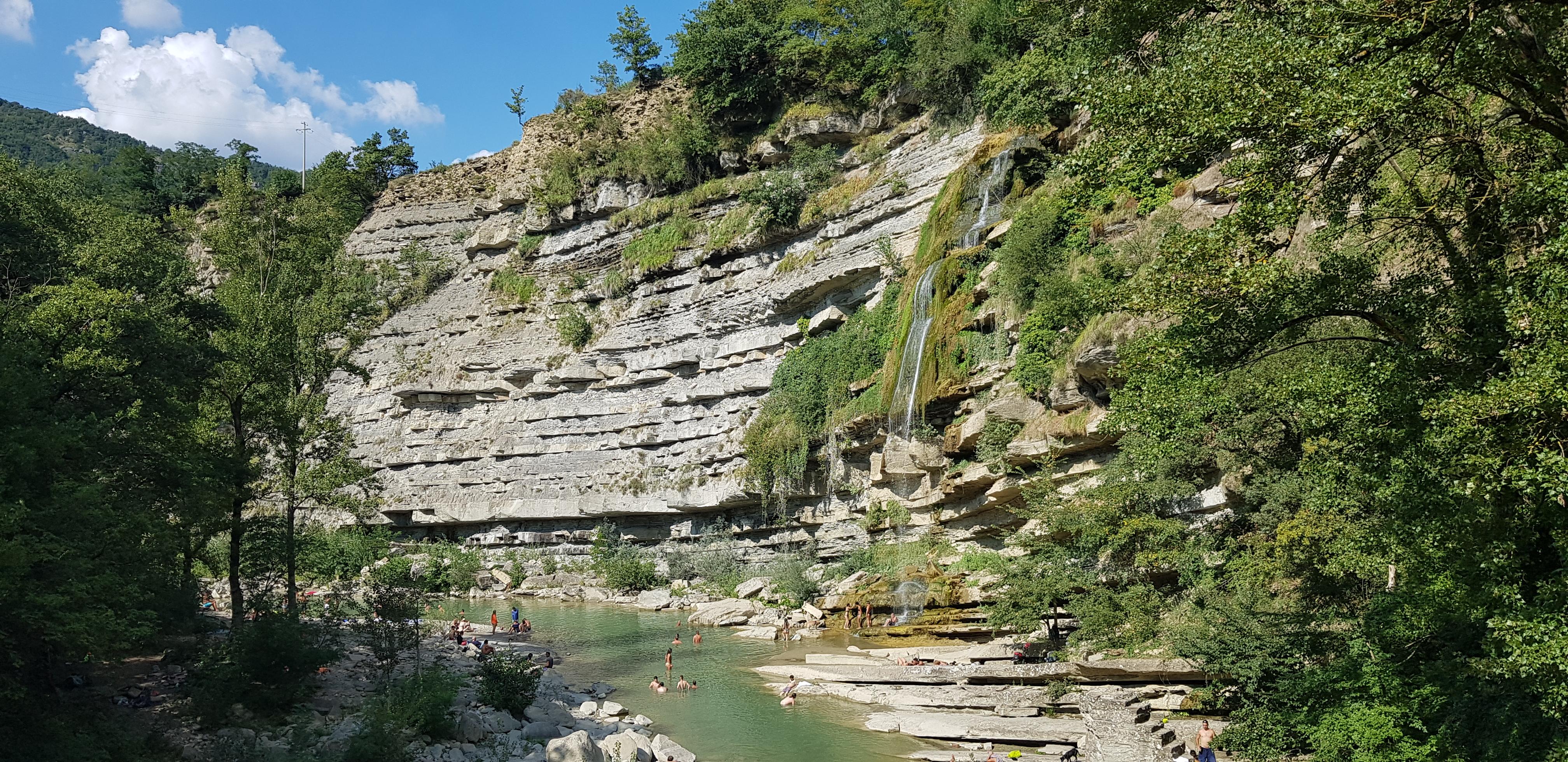 De waterval bij Moraduccio, zo'n fijn plekje die je liever verborgen houdt...