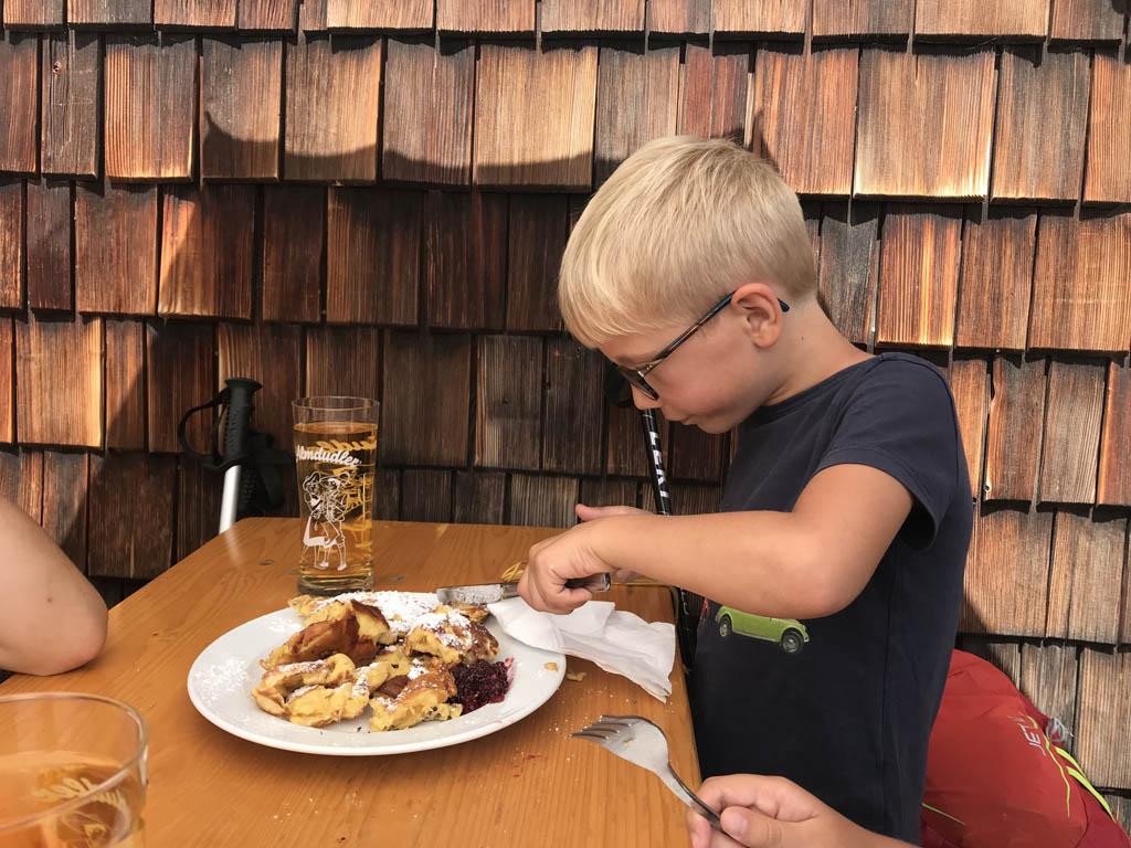 huttentocht met kinderen lunch