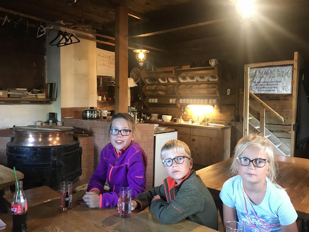 huttentocht met kinderen keuken