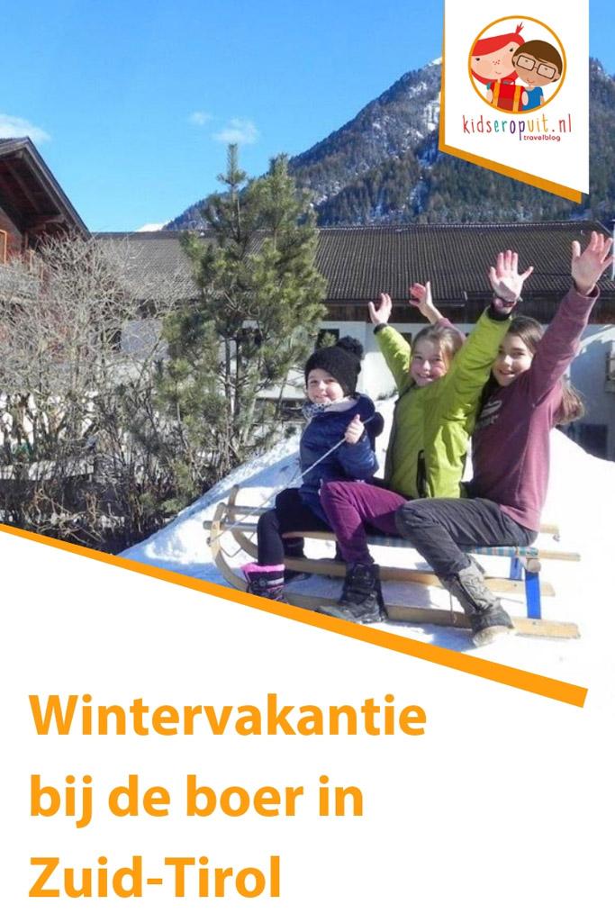 Wintervakantie bij de boer in Zuid-Tirol.