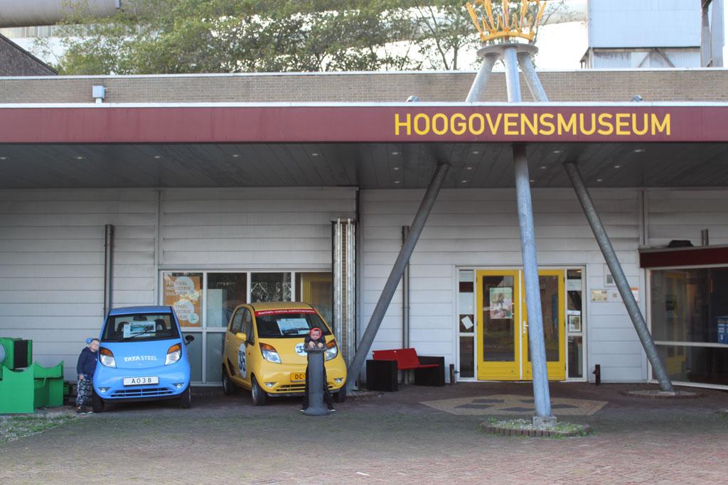 De ingang van het Hoogovensmuseum.