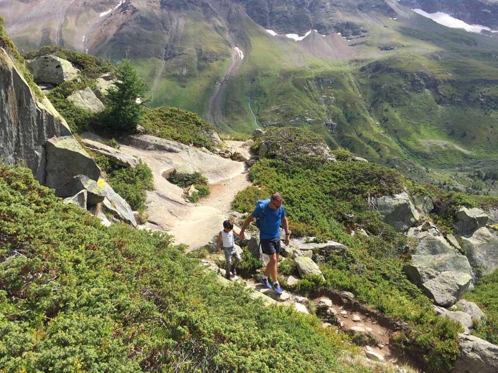 Vanaf de Anenhütte moeten we flink afdalen.
