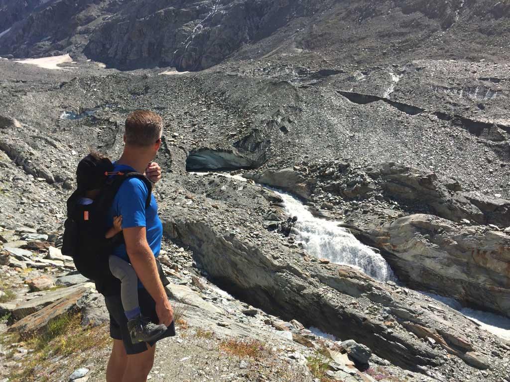 Een indrukwekkend uitzicht op de Langgletscher.