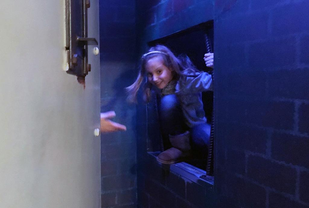 Ja! We zijn uit deze cel ontsnapt!