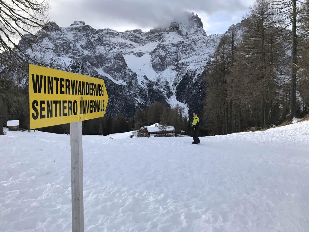 Die kant op naar de Rotwandwiesenhütte.