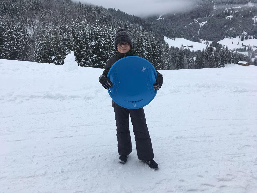 De schotel staat garant voor veel sneeuwplezier