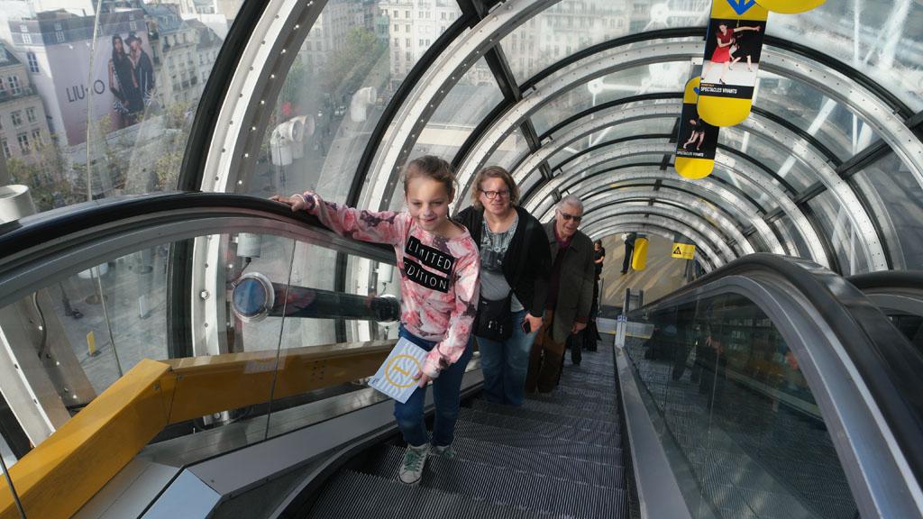 Natuurlijk pak je in Centre Pompidou de roltrap.