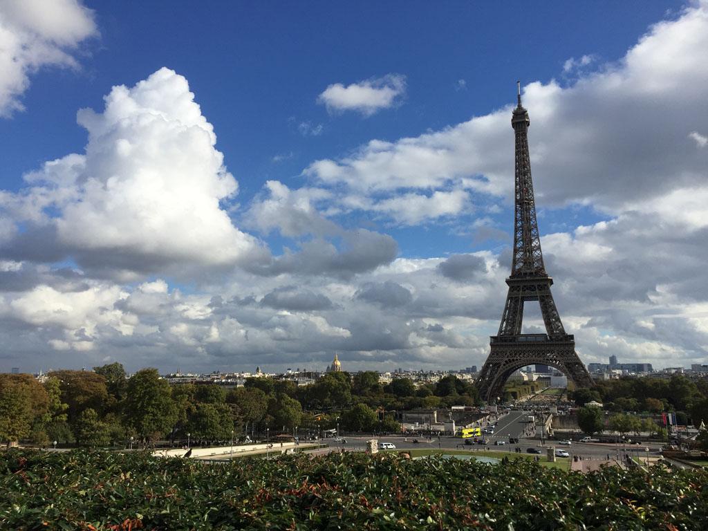 De Eiffeltoren is het icoon van Parijs.