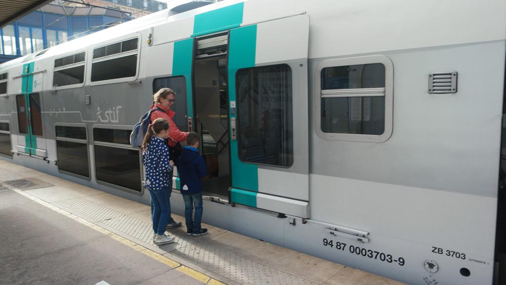 Met de RER naar het centrum van Parijs met kinderen.