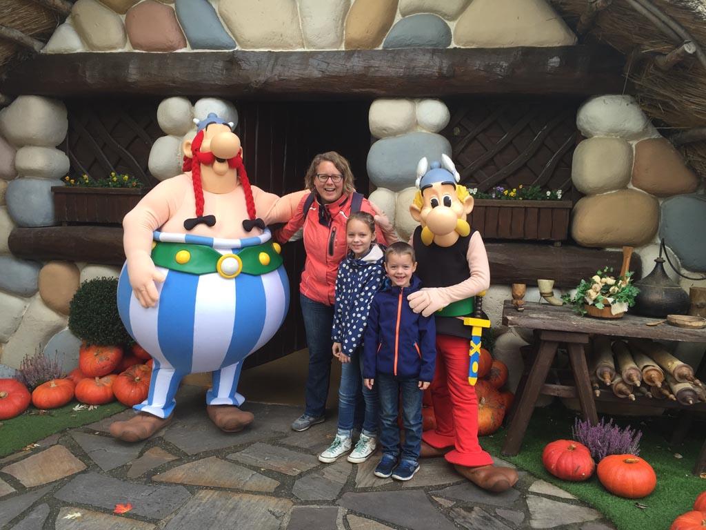 Meet & greet met Asterix en Obelix.