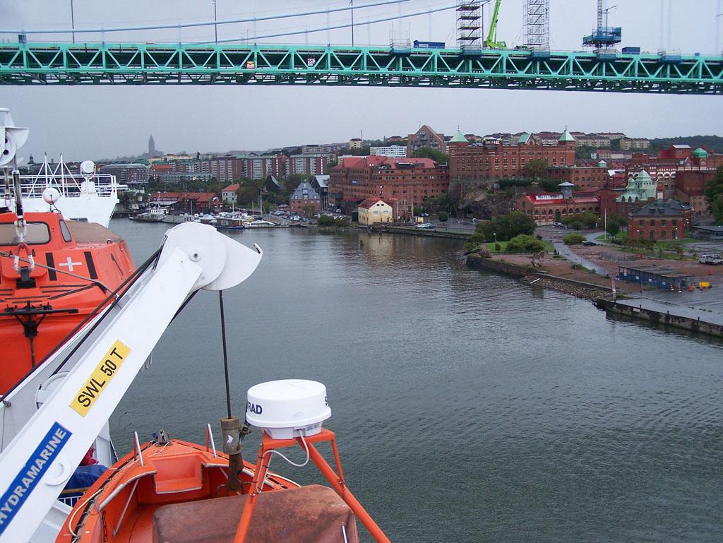 Aankomst in Göteborg. Een boot wacht niet als je vast staat in de file...