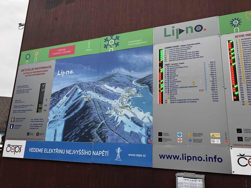 Het skigebied van Lipno is niet groot maar wel heel geschikt voor families met beginnende kids.