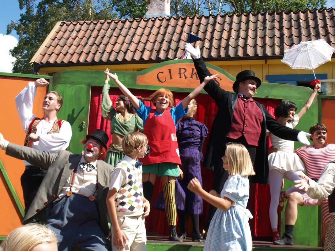 Het 'Pippi-park' is natuurlijk onmisbaar tijdens een rondreis met kinderen in Denemarken en Zweden