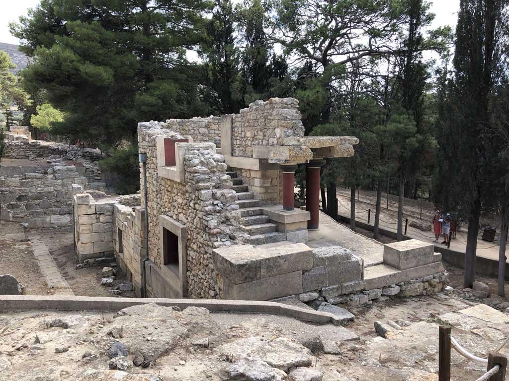 Overblijfselen van een woning in Knossos.
