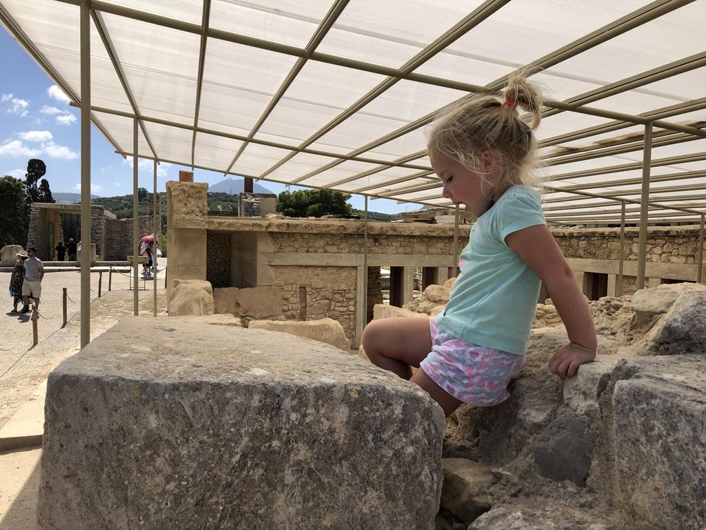 Ook in Knossos kan op sommige plekken geklommen worden.