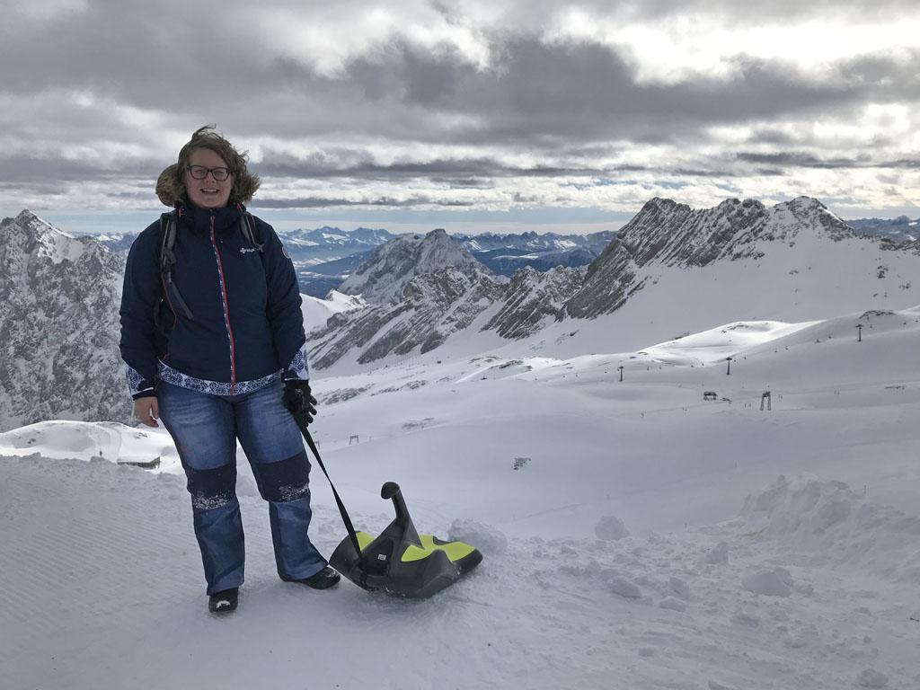 Fantastisch om op de 'Top of Germany' te zijn en er te gaan rodelen.