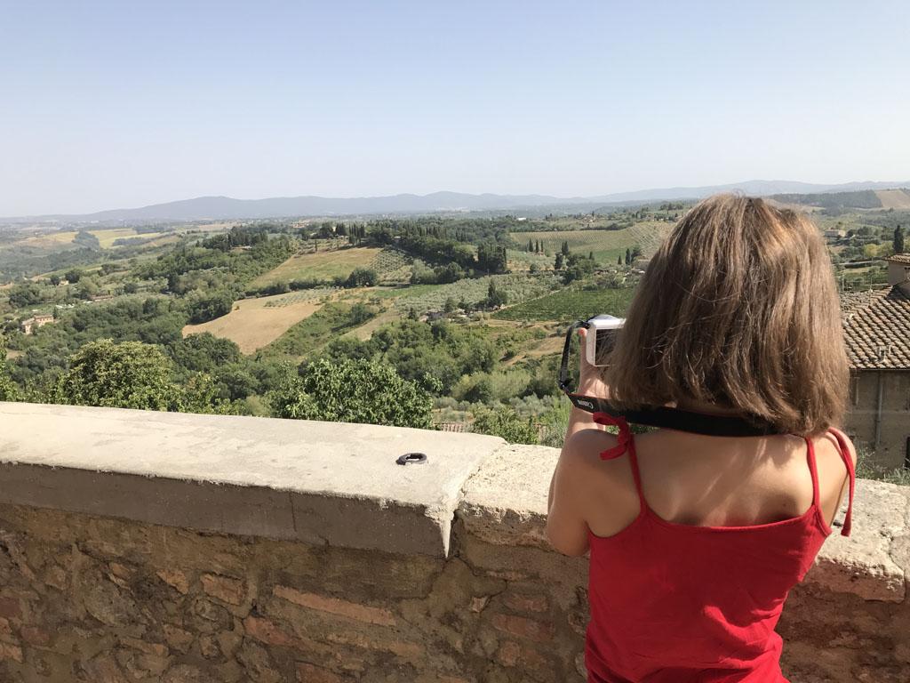 Prachtig uitzicht op het omliggende landschap.