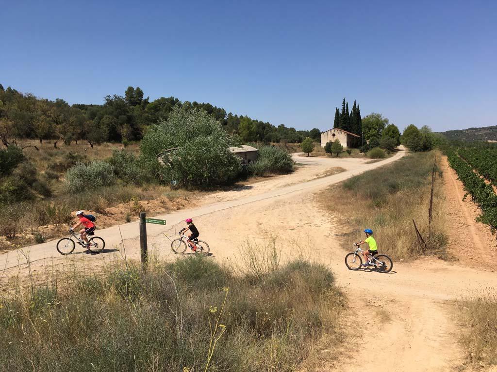 De start van de route vanaf Horta de Sant Joan.
