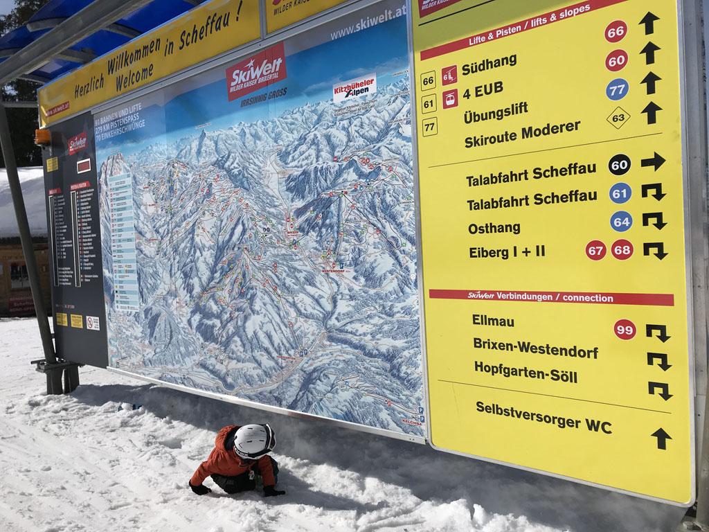 Skigebied Wilder Kaiser heeft heel veel routes.