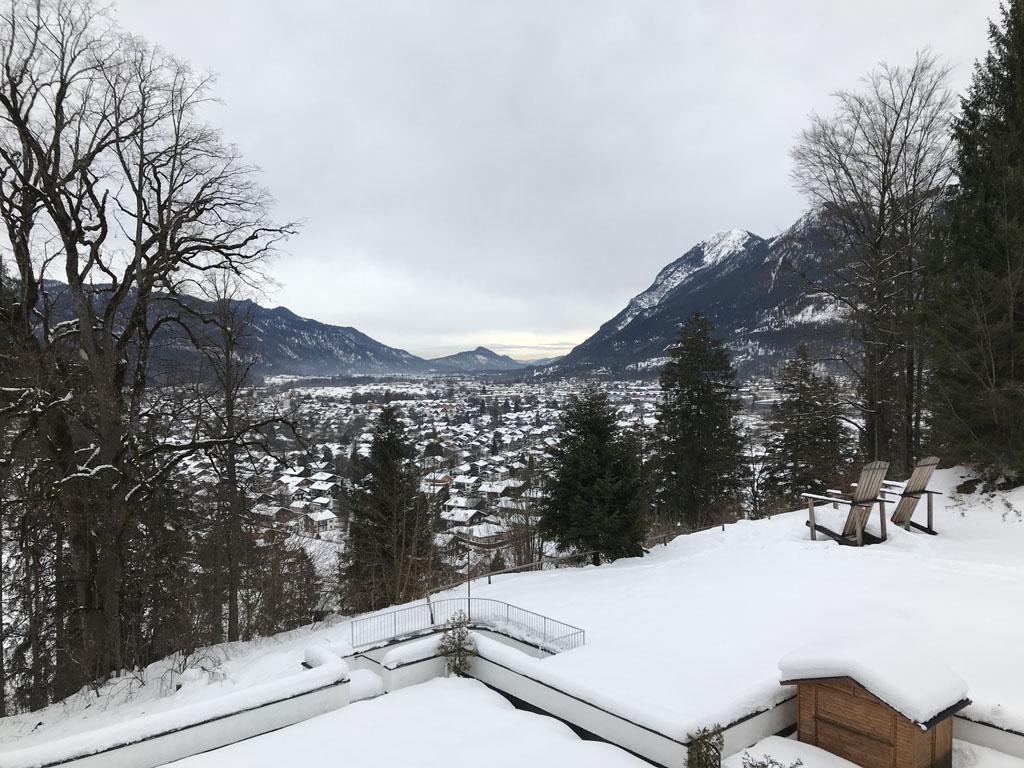 Uitzicht vanaf mijn balkon.