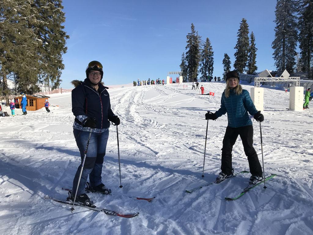 Klaar voor onze skiles.
