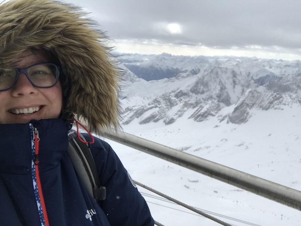 Op de Zugspitze.