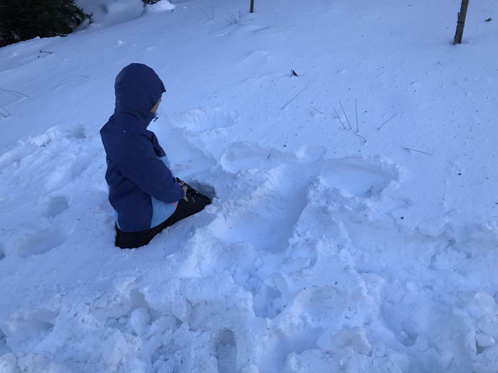 Sneeuwengel gemaakt!
