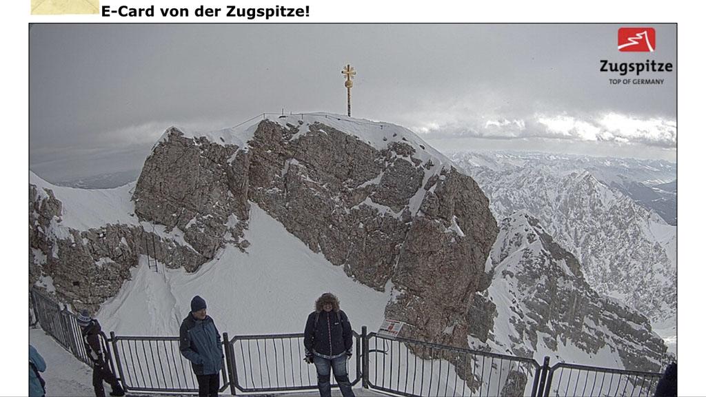 Printscreen van mijn Zugspitze-kiekje met de onbekende meneer.