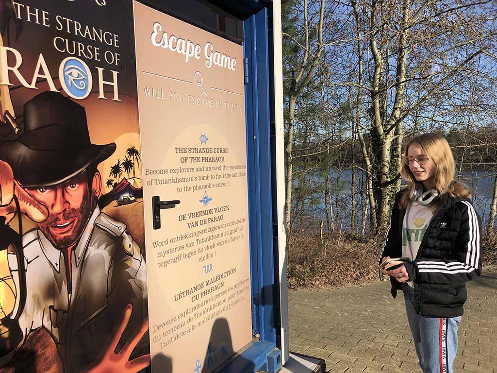De escaperooms van Centerparcs zijn gemaakt in zeecontainers