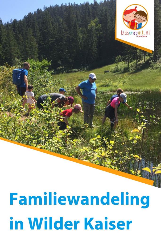 Familiewandeling in Wilder Kaiser.